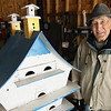 Record-Eagle/Keith King<br /> Russ Hoxie built this birdhouse for purple martins.