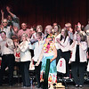 """Record-Eagle/Keith King<br /> Performers in the 69th annual Rotary Show break out in song and danc with La Macarena, a Spanish dance tune, along with a wide variety of other songs this week at Lars Hockstad Auditorium in Central Grade School.  The rousing show -- which the club describes as a major community fundraiser as well as a """"fun raiser"""" -- will be presented one more time: tonight."""