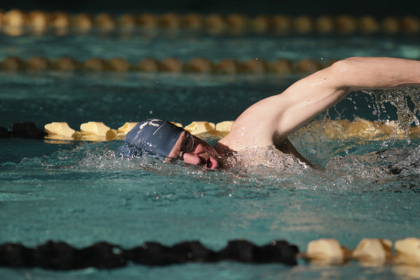 Record-Eagle/Keith King<br /> Sean Cabbage, of Traverse City, swims Saturday, April 27, 2013 with Grand Traverse Masters Swimming in the Easling Pool at the Grand Traverse County Civic Center.