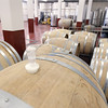 Record-Eagle/Keith King<br /> Wine barrels lie in part of a recent addition at Chateau Chantal on Old Mission Peninsula.