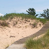 Record-Eagle/Jan-Michael Stump<br /> <br /> Steps mark a path over a dune near Peterson Road in The Sleeping Bear Dunes National Lakeshore. The lakeshore's prefered general management plan is drawing fire from some because of the amount of land it would designate as wilderness.