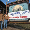 Record-Eagle/Bill O'Brien<br /> Business partners Glen Harrington, left, and John McGee will open Harrington's By The Bay this spring in the former Fresh Water Lodge along M-22 in Leelanau County. The two worked together at nearby Apache Trout Grill in Greilickville.