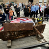 Record-Eagle/Keith King<br /> A 9/11 artifact from the World Trade Center's North Tower is displayed Friday at the Grand Traverse Metro Fire Department Station 1.