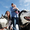 Record-Eagle/Jan-Michael Stump<br /> Josh and Anne Rollo; their daughter, Amelia; and their dogs -- Duke, left, and Sampson -- would like to see a bark park in their Slabtown neighborhood.