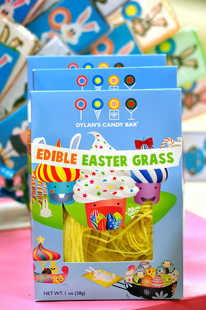 Record-Eagle/Vanessa McCray<br /> <br /> Line your Easter basket with edible Easter grass, sold at Dylan's Candy Bar at the Grand Traverse Resort & Spa.