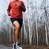 Record-Eagle/Pete Rodman<br /> Matt Johnston runs on the TART trail, a regular training area for him as he prepares for the 2015 Boston Marathon.