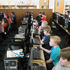 Record-Eagle/Keith King<br /> Third-grade students take a Michigan Educational Assessment Program (MEAP) pilot test Thursday, April 4, 2013 in the media center at Birch Street Elementary School in Kalkaska.