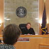 Photo by Anne Stanton<br /> A 50-year-old probationer tells Judge Michael Stepka he feels great after five months of not drinking.