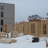 Record-Eagle/Mark Urban<br /> The first floor of the Trailside45 apartment community is taking shape along Garfield Avenue.