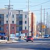 Record-Eagle/Dan Nielsen<br /> Garfield Avenue runs next to the Trailside 45 apartment building.
