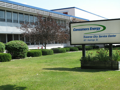 Record-Eagle/Glenn Puit Consumers Energy service headquarters are pictured on Hastings Street in Traverse City recently. The energy company is preparing for changes in Environmental Protection Agency regulations by retiring a string of coal plants.