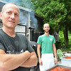 Record-Eagle/Allison Batdorff<br /> Steve Tebo, left, and Austin Smith, right, will be contenders in the BACN Bacon Cook-off Sat. Aug. 30.