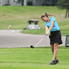 Record-Eagle/Keith King<br /> Traverse City West's Taylor Kehoe tees off during the Traverse City Central Bob Lober Classic at the Grand Traverse Resort and Spa.