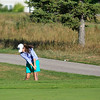 Record-Eagle/Jan-Michael Stump<br /> Traverse City West's Laura Krieber hits a fairway shot on Spruce Run during Tuesday's Bob Lober Golf Invitational Tuesday at the Grand Traverse Resort and Spa in Acme.