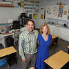 Record-Eagle/Keith King<br /> Steven Champion, teacher and principal, and Zlata Champion, teachers assistant, stand Tuesday, August 14, 2012 in the Traverse City Seventh-day Adventist School which is for students in first grade through eighth grade.