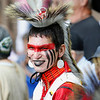 Record-Eagle/Jan-Michael Stump<br /> Gabriel Yellowthunder waits for the Grand Entry in Saturday's Peshawbestown Traditional Pow Wow.