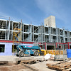 Record-Eagle/Nathan Payne<br /> Work at the Hotel Indigo jobsite along Grand View Parkway halted this week and and will not resume until the project's owners secure a construction loan.