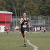 "Record-Eagle/Keith King<br /> Traverse City Central's Kyle Dotterrer nears the finish line Saturday, August 24, 2013 during the Eldon ""Pete"" Moss Invitational at Benzie Central High School."