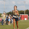 "Record-Eagle/Keith King<br /> Traverse City St. Francis' Holly Bullough approaches the finish line as cross country runners compete Saturday, August 24, 2013 during the Eldon ""Pete"" Moss Invitational at Benzie Central High School."