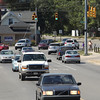 Record-Eagle/Keith King<br /> Vehicles travel Tuesday, August 28, 2012 on Eighth Street, near the intersection of Woodmere Avenue, in Traverse City.