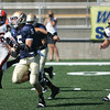 Record-Eagle/Keith King<br /> Traverse City St. Francis back Byron Bullough finds room as he sprints to the end zone from 35 yards out.