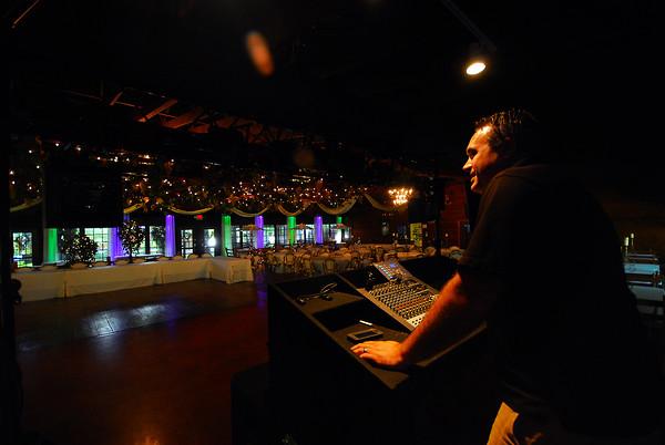 Record-Eagle/Dan Nielsen<br /> Scot Gardner of Northern DJ Connection looks over the dance floor at Frog Pond Village.