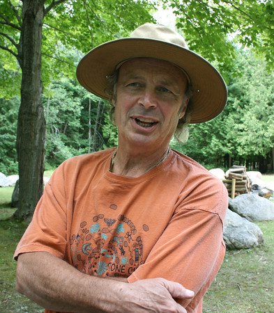 Record-Eagle/Loraine Anderson<br /> Poet Terry Wooten created the Stone Circle in 1983.
