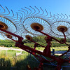 Record-Eagle/Dan Nielsen<br /> A hay rake stands idle at Idyll Farms farmstead goat creamery on Peterson Park Road in Leelanau County.