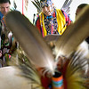 Record-Eagle file photo/Keith King<br /> Armando Lucio, of Winona Lake, IN, performs with others in a drum circle Saturday, August 21, 2010 during the Grand Traverse Band of Ottawa and Chippewa Indians annual Traditional Powwow.