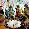 Record-Eagle file photo/Keith King<br /> Drummers perform Saturday, August 21, 2010 during the Grand Traverse Band of Ottawa and Chippewa Indians annual Traditional Powwow.