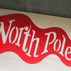 Record-Eagle/Keith King<br /> A 'North Pole' metal flag Wednesday, November 27, 2013 which is planned for Santa's House.