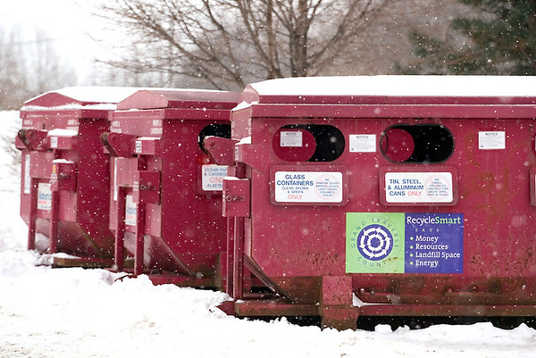 Record-Eagle/Jan-Michael Stump<br /> American Waste will keep recycling drop-off bins, like these off LaFranier Road in Garfield Township, even though Grand Traverse County won't pay for them.