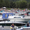 Record-Eagle file photo/Keith King<br /> Boaters and beachgoers gather at West End Beach last July during the National Cherry Festival.