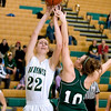 Record-Eagle/Keith King<br /> Traverse City West's Ressa Borkovich, left, tries to get a shot off against Alpena's Cassandra Shaw Thursday, December 16, 2010 at Traverse City West High School.