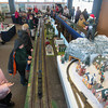 Record-Eagle/Keith King<br /> Students from North Central Academy in Mancelona look at model trains Thursday during Festival of Trains media day at the History Center of Traverse City. The Festival of Trains is scheduled to take place through January 4 but will be closed on Christmas Day and New Year's Day.