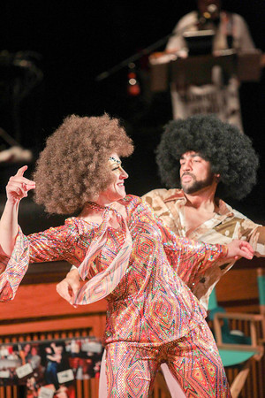 Record-Eagle/Keith King<br /> Jen Klabunde (star) and Danny Brizard (instructor) dance Friday during the SwingShift and the Stars Dance-Off for Charity at the City Opera House in Traverse City.