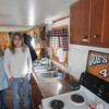 Record-Eagle/Keith King<br /> Anne O'Donnell, left, stands with Joe Sersaw at his home Friday in Traverse City.