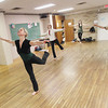 Record-Eagle/Keith King<br /> Dorothy Eisenstein, an adjunct instructor, teaches during a beginning dance class Monday, December 10, 2012 in the Nick and Frances Rajkovich Physical Education Center at the Northwestern Michigan College main campus in Traverse City.