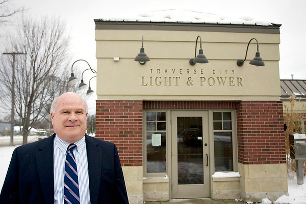 Record-Eagle/Keith King<br /> Ed Rice, Executive Director at Traverse City Light & Power, stands in front of the utility.