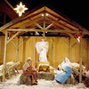 Record-Eagle/Keith King<br /> A live Nativity scene takes place Christmas Eve at Bayview Wesleyan Church in Traverse City. The Nativity featured live animals and people in the depiction of the birth of Christ.