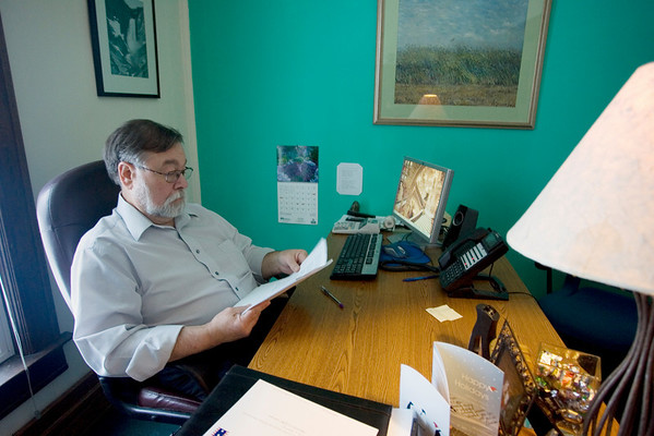Record-Eagle/Keith King<br /> Ken Homa, Executive Director at Third Level Crisis Intervention Center, works in his office.