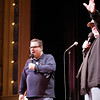 Record-Eagle/Douglas Tesner<br /> Jeff Garlin, left, and Michael Moore host the first Traverse City Comedy Arts Festival last February.