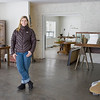 Record-Eagle/Keith King<br /> Kim Bazemore, of Traverse City, stands in her renovated building.