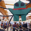 Record-Eagle/Keith King<br /> Attendees gather, admire and interact at a variety of stations Saturday, December 8, 2012 during Super Science Saturday at Traverse City Central High School. Profits from the event support FIRST Robotics Team 1711, The RAPTORS of Traverse City Central High School.