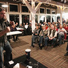 Record-Eagle/Keith King<br /> Garrett Gilliland, of Traverse City, performs Friday, December 7, 2012 during the Mt. Holiday Comedy Fundraiser at the Mt. Holiday Ski and Recreation Area in Traverse City. Proceeds from the event go toward the Mt. Holiday Ski and Recreation Area maintenance department.