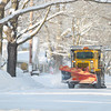Record-Eagle/Keith King<br /> A City of Traverse City truck plows snow as it's operated Tuesday.