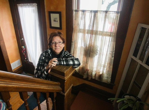 Record-Eagle/Keith King<br /> Vanessa Fox Gruenwald, of Suttons Bay, Tuesday at her home in Suttons Bay.