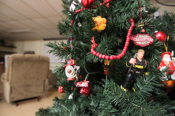 Record-Eagle/Keith King<br /> A decorated Christmas Tree Wednesday, Christmas Day, at the Traverse City Fire Department Station 1.