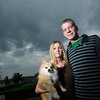 Record-Eagle/Jan-Michael Stump<br /> <br /> Brian Rogers (cq), here with wife Crystal and their pomeranian Cookie, found their cat Remus (cq) cut in half in a neighbors backyard the afternoon after he went missing in late July. The two recently got a new cat, Remus 2.0 (cq), but are concerned about letting their pets outside to play in their Blair Township neighborhood.