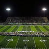Record-Eagle/Jan-Michael Stump<br /> <br /> The Traverse City Central and Traverse City West bands played a song together during halftime of Friday's game at Thirlby Field.